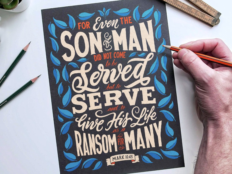 Serve vector type brush calligraphy hand lettering lettering typography