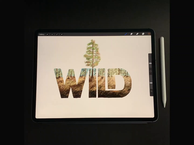 WILD illustration wild timelapse video procreate art procreate calligraphy hand lettering lettering typography