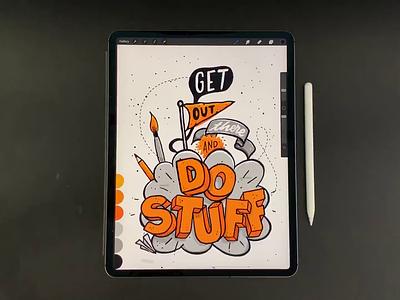 Do Stuff ipad type illustration procreate hand lettering lettering typography