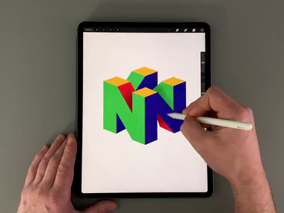 N64 game procreate app procreate brush calligraphy hand lettering lettering typography