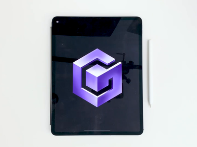 Gamecube Logo gamecube nintendo videogame type gaming procreate video logo design calligraphy hand lettering lettering typography