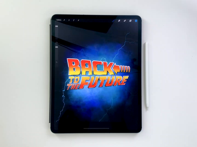 Back to the Future logo video ipad ipad-pro procreate type calligraphy hand lettering lettering typography