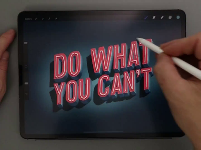 Do What You Can't 3d video art procreate art procreate calligraphy hand lettering lettering typography