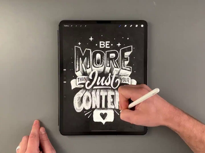 Be More than just your Content video procreate app procreate illustration type calligraphy hand lettering lettering typography
