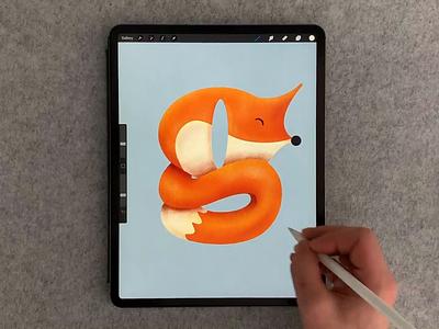 G-Fox art digitalart digital-art procreate brush calligraphy type lettering hand lettering typography