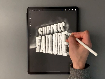 Failure / Success video procreate art procreate type calligraphy hand lettering lettering typography