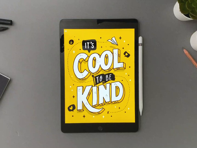 It's Cool to be kind grid-builder letter-builder video calligraphy hand lettering lettering typography