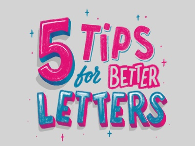 5 Tips for Better Letters type brush calligraphy hand lettering lettering typography