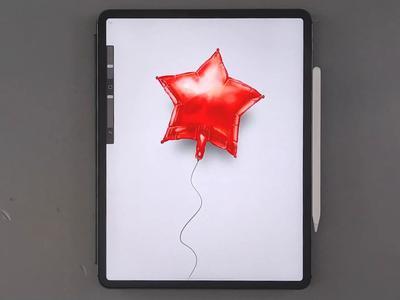 Star Balloon drawing procreate apple ipad balloon video art