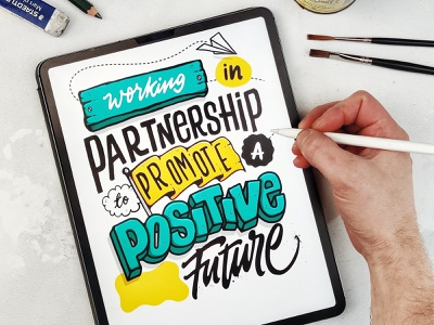 Positive Future design procreate brush calligraphy hand lettering lettering typography