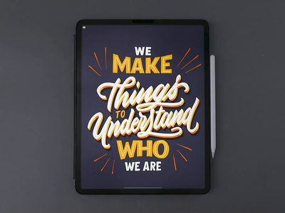 We Make Things ipad letters procreate art video brush calligraphy hand lettering lettering typography