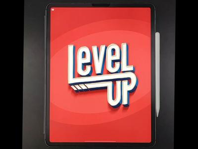 Level Up! letter-builder ipad procreate design illustration calligraphy hand lettering lettering typography