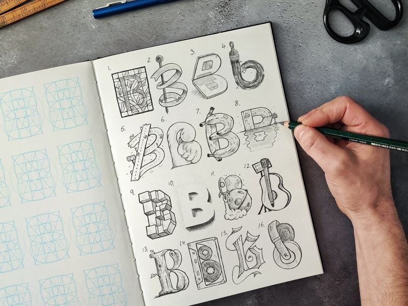16 Types of B procreate letters typeface type calligraphy hand lettering lettering typography