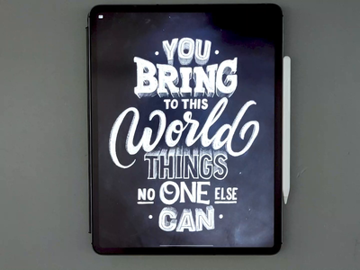 You Bring Things drawing art procreate video type calligraphy hand lettering lettering typography