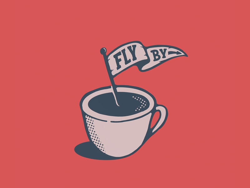 FlyBy Coffee logo coffee calligraphy hand lettering lettering typography