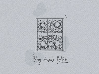 Stay home stay safe. paper type moroccan window illustration stayhome quarentine