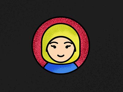 Self avatar linework self portrait design illustration grain icon avatar