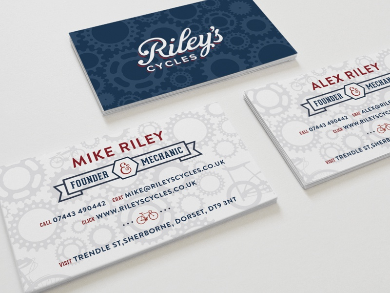 Bike Shop Business Cards by green chameleon - Dribbble