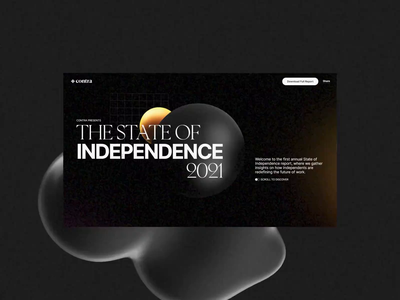 The State of Independence 3d graphics interaction design one page landing page interactive webgl three.js 3d web design web website
