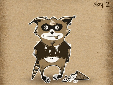 Crazy Raccoon for Inktober 2019! Day 2