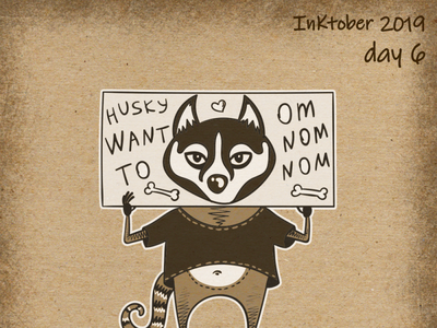 Crazy Raccoon for Inktober 2019! Day 6