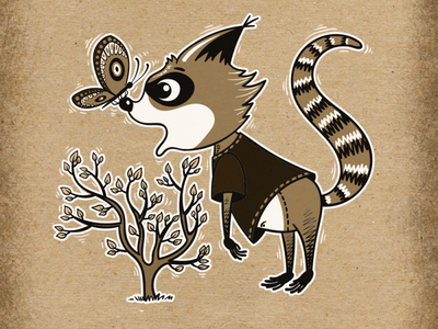 Big Inktober Project on Behance - Cute Raccon Adventures!