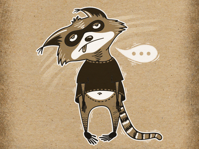 Inktober Adventures of Cute Raccoon! Day 8