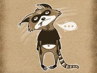 Inktober Adventures of Cute Raccoon! Day 8