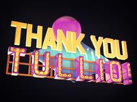 Thank you, Tullio! lettering 3d thanks you thank invitation invite dribbble