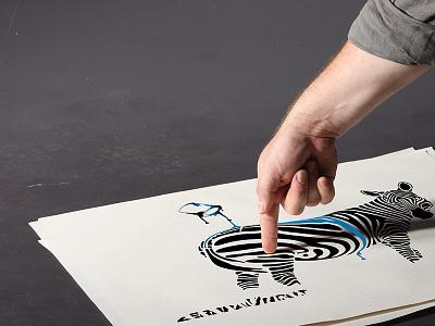 ZebraUncut Illustration uncut finger illustrator print zebra zebrauncut