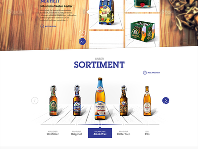 Kulmbacher Beer Pitch pitch beer blue bottle slideshow screendesign