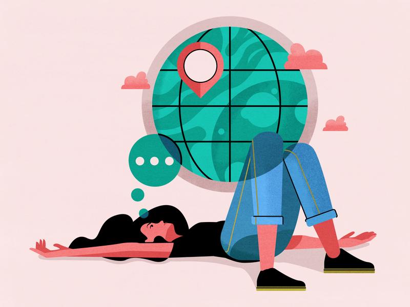 Social Isolation san francisco visual designer sf bay area character design illustrator holt510 texture illustration oakland