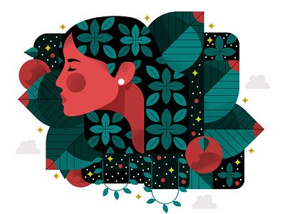 Sanctuary 🌿 adobe illustrator visual designer vector character holt510 illustrator texture san francisco oakland illustration