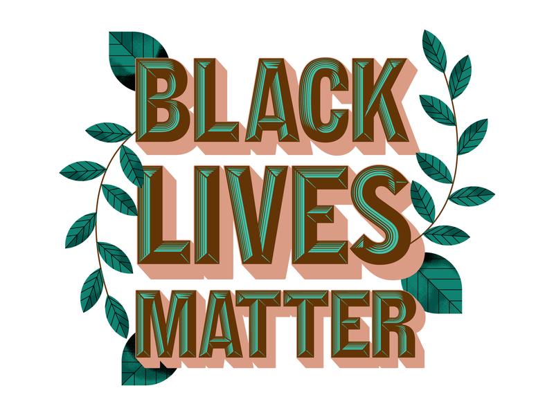 Black Lives Matter texture design illustrator holt510 san francisco typography