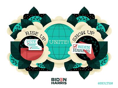 Rise Up. Show Up. Unite! visual designer illustrator adobe illustrator vector holt510 oakland san francisco texture illustration