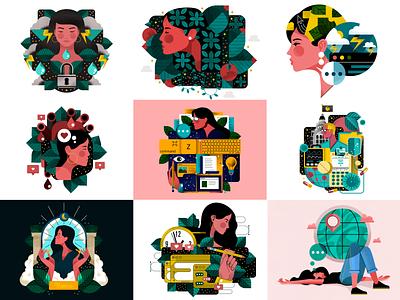 Top 9 of 2020 🙌 adobe illustrator icons vector character design holt510 illustrator texture oakland illustration