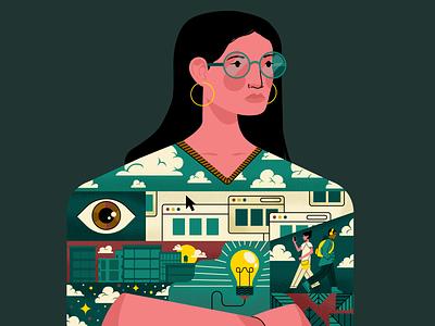 What inspires you? visual designer adobe illustrator vector character holt510 illustrator texture san francisco illustration oakland