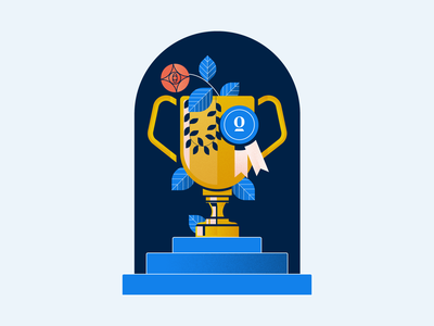Opendoor Fitness Challenge Trophies holt510 oakland san francisco company culture internal communications leaves rose texture trophies trophy illustration