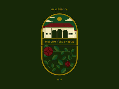 Oakland Rose Garden oasis landmark bay area flowers roses illustrator holt510 san francisco illustration oakland