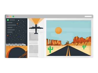 Plan A Vacation In Evernote holt510 texture highway open-road plane train illustration vacation evernote