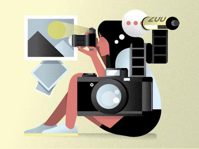 Photography design picture camera photographer character visual designer texture holt510 san francisco oakland illustration