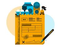Hellosign Instacart Customer Story Hero Illustration