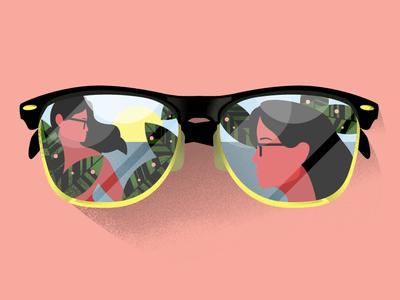 In The Sun ray bans sf bay area 510 bay area character visual designer oakland san francisco design illustrator texture illustration