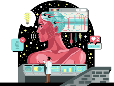 Artificial Life stars illustrator sf bay area visual designer icons character oakland san francisco holt510 illustration design ai