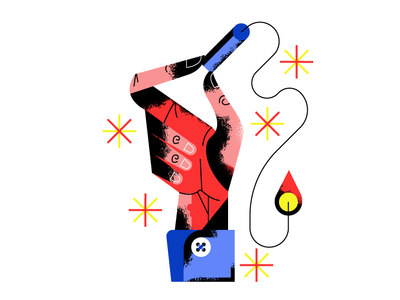 🧨Pop Bang Pow 🧨 hand vector sf bay area holt510 illustrator design texture san francisco illustration oakland
