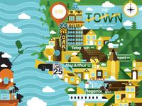 Oakland City Map
