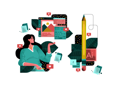 ✏️ Adobe Illustrator ✏️ adobe illustrator vector san francisco texture character design illustrator oakland illustration