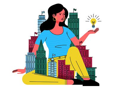 City design holt510 san francisco visual designer texture woman character oakland illustrator illustration