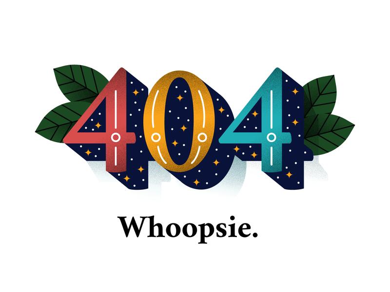 404 Page branding webdesign adobe illustrator texture design illustrator oakland san francisco illustration