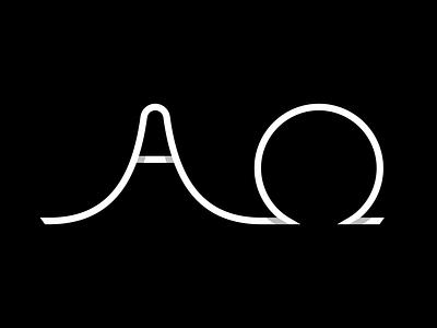 Alpha & Omega Monoline simple alpha and omega lettering monoline omega alpha